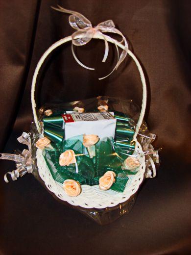 """Корзинка с чаем  """"Цветы"""" - подарочный набор №62"""