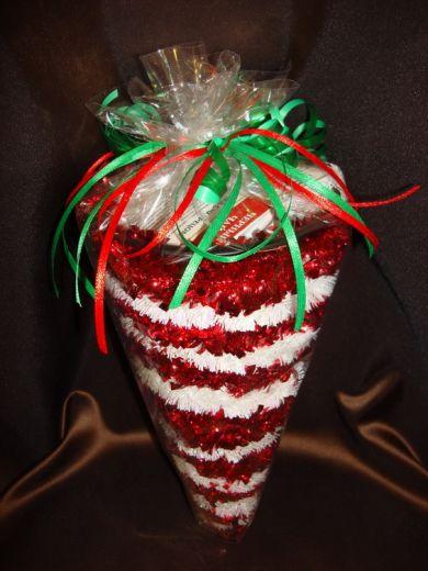 Рожок Новогодний - подарочный набор с кофе или чаем