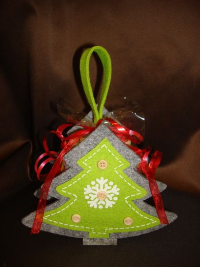 """Кофейная сумочка """"Ёлочка новогодняя"""" - подарочный набор с кофе"""